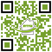 Kreativer QR-Code der Firma Bytyqi